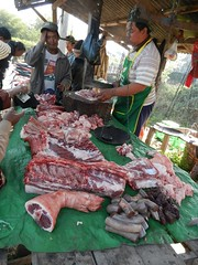 Kalaw (simo2582) Tags: people asian asia burmese shanstate shan birma birmania burma myanmar market kalaw human trade typical hilltribes tribes mountain hillstation village countryside travel reise blick unterwegs world traditional 5daysmarket groceries street man meat