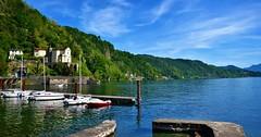Maccagno (tomascecco) Tags: maccagno lombardia varese italy lagomaggiore church nikon lake boats harbor colors nature