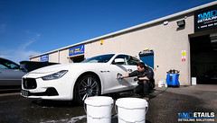 Maserati Ghibli (AMDetails) Tags: uk detail cars car closeup canon advertising scotland cool awesome details automotive cleaning clean business company wash workshop advert finished g1 products elgin beforeandafter process executive behindthescenes washing preparation prep moray sportscar bts unit detailing tidying cleanandshiny maseratighibli madeintheuk carcleaning worldcars gtechniq amdetails alanmedcraf