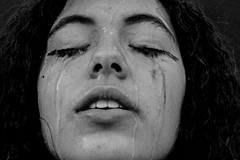 C. (sofirevillac) Tags: new blackandwhite art photography mess alone sad crying messedup