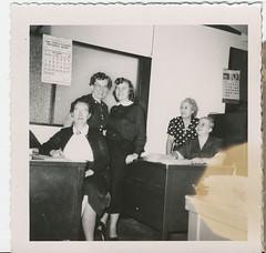 Office Party (neshachan) Tags: snapshot 1954 1950s instantrelatives mamiedavis helenharvey paulineblock opalgoddard dorothyfrye tippcitizensbank