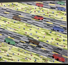 Traffic (rainman41097) Tags: art traffic artshow paperstrips