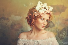 Thumbelina (Nini1987dk) Tags: flowers fairytale butterfly redhead stare dreamy satin thumbelina chidhood