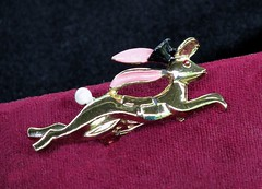 Run Bunny Run (M.P.N.texan) Tags: rabbit bunny silver hare pin brooch jewelry collectible costumejewelry