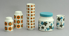 'Sunglow' and 'Lakeland' for Midwinter Pottery (robmcrorie) Tags: roy jessie ceramic design designer pot trent pottery 1960s stoke lakeland midwinter tableware tait sunglow jessietait