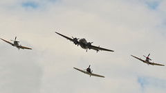 ANZAC DAY 2015- Junee fly over (Struan Timms Photography) Tags: spitfire hudson anzacday junee wirraway temoraaviationmuseum anzacmarch tamron7020028 nikond7000 juneeshire struantimmsphotography juneephotographer
