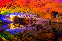 Qiliang Cave Reflections - China (lucien_photography) Tags: china water colors canon reflections lights colours cave cavern fenghuang hunan markiii qiliang canon5dmarkiii 5dmarkiii qiliangcaves qiliangcavern