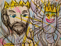 King Of Sicily (giveawayboy) Tags: art tampa sketch king artist drawing lobster sicily crayon fch giveawayboy billrogers wwls