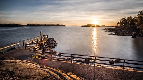 Lauttasaari at sunset - Helsinki, Finland - Seascape photography