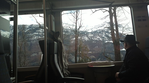 View from a Swiss train