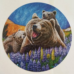 BLUEBERRY BEARS (pattakins) Tags: colorful bright bears puzzle round jigsawpuzzle 350piece 14inchdiameter