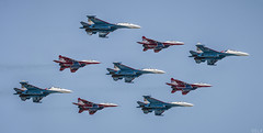 Swifts & Russian Knights (S.L.R) Tags: team moscow 71 victory parade knights soviet russian federation swifts aerobatic mikoyan sukhoi mig29 2016 su27 russkiye  strizhi  vityazi