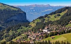 downhill  from Jungfraujoch (werner boehm *) Tags: schweiz switzerland dorf berge lauterbrunnen jungfraujoch wernerboehm