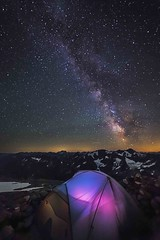 Sahale Camp at Night (i8seattle) Tags: northcascades northcascadesnationalpark sahaleglaciercamp sahalecamp
