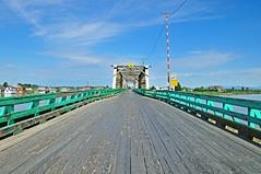 Westham Island Bridge 16-0514-9611 (digitalmarbles) Tags: wood bridge sky canada architecture clouds landscape wooden nikon bc britishcolumbia scenic truss lowermainland wooddeck deltabc singlelane nikond300