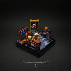 024 - Heading off (roΙΙi) Tags: harrypotter chamberofsecrets gilderoylockhart ron interior hogwarts rowling bricks magic vignette