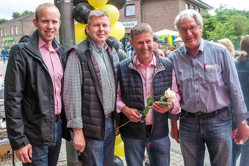 Infostand beim HUGO-Straßenfest Ofenerdiek mit der SPD Oldenburg-Nord.