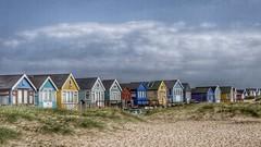 Beach Huts (Thank you for 4M+ views.) Tags: wood windows color colour beach seaside sand huts dorset colourful mudeford