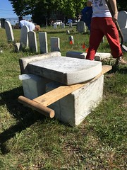 20160618_2606 (Spirits Alive at the Eastern Cemetery) Tags: by headstone conservation h marble huston doggett 2016 easterncemetery spiritsalive dorahuston 20160618