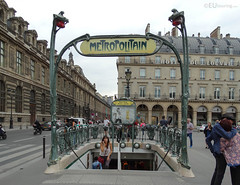 Traditional Metropolitain entrance (eutouring) Tags: life city travel paris france metro traditional citylife metropolitain ornate pariscitylife