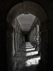 Archways (craigdwilkinson) Tags: blackandwhite monochrome architecture canon shadows stonework northumberland archway archways bnw seatondelavalhall seatondelaval kissx4
