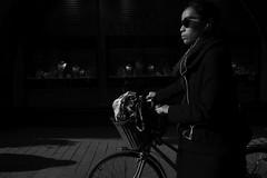 Street portraits (HKI DRFTR) Tags: lighting portrait urban blackandwhite girl bike contrast helsinki shadows streetphotography lowkey onthemove streetportraiture
