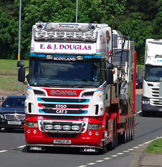 E&J Douglas Scania R730 PD61EJD on the A90, Dundee, 20/6/16 (andyflyer) Tags: transport lorry a90 haulage hgv roadtransport scaniar730 ejdouglas pd61ejd