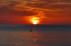 swim in the sunset (Axel Diederich) Tags: sunset strand sonnenuntergang spanien wrme
