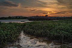 Shoreham Toll Bridge Sunset (Dave Sexton) Tags: shoreham west sussex adur england uk toll bridge lancing college sunset golden hour pentax k1 samyang 35mm f14