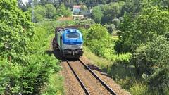 Comboio Internacional 48896 ( Comsa Rail 335.001 ) - Aguiar - Linha Minho (ruicmsilva) Tags: verde paisagem tunel madeira comboio linha minho aguiar tuy locomotiva 5001 comsa soporcel comsarail 335001