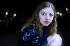 Mermaid in the Night II (Pauline Clment Photographies) Tags: blue night mermaid sirene