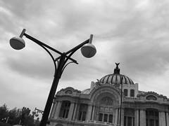 Nostalgia (HectorVaM) Tags: blackandwhite bw mexico outside artes bellas palacio cdmx