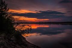 Вечерняя Вычегда в Алёшино