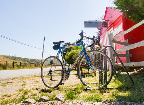 Bike hut, Tunitas Creek Road