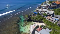 Views overlooking the famous surfing beach, Uluwatu. (wrightontheroad) Tags: uluwatu cliffsidecommunity restaurants tropicalwaters turquoisewaters kutaselatan bali indonesia