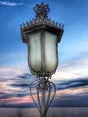 Street lamp (lulythewitch17) Tags: nikon trieste estate summer tramonto lampione streetlamp sunset sea