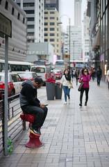 people in the city (Steve only) Tags: ltm film canon 50mm voigtlander rangefinder snaps epson fujifilm p 100 nokton rf l39 f15 aspherical peopleinthecity m39 5015 v750 leicascrewmount leicathreadmount gtx970 100