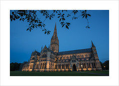 Salisbury Cathedral (andyrousephotography) Tags: longexposure church architecture canon eos cathedral dusk clear 5d salisbury bluehour anglican magnacarta mkiii