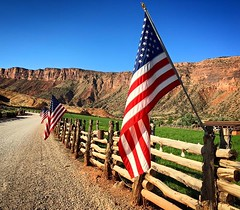 Love the welcome Red Cliffs Lodge put out for our veterans. What a great view to start the day here in Moab. #supportourveterans.