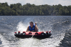 Cottage Weekend (stephenisabellemaggie) Tags: cottagelife cottage watersports tubing smiling ontario lanarkcounty canada canon6d canon70200f28lisiiusm