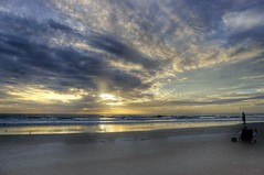 Sunrise With Photographer (TaranRampersad) Tags: hdr sunrise morning beach newsmyrnabeach florida outside outdoors seaside oceanside highlight