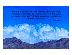 Exodus 24:16 (Carl Cohen_Pics) Tags: clouds mountain sky scripture exodus