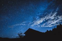 Starry night:星夜 (YUSHENG HSU) Tags: アウトドア アジア シャレー シルエット スペース ダーク バックグラウンド ビュー ランドマーク 暗 闇 宇宙 雲 科学 科學 観光 輝き 輝く 宜蘭 逆光 銀河 銀河系 空 空間 景 景區 午夜 光 光亮 自然 樹 樹木 深夜 翠峰 星 星雲 星空 星系 星座 青 閃光 閃耀 台灣 地標 抽象 長曝 天空 天文学 天文學 背景 繁星 風景 房子 明るい 明亮 木 木屋 夜 夜景 夜晚 藍 亞洲 剪影 觀光 戶外 黑 黑暗
