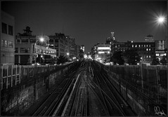 **THE 1 LINE NYC** (**THAT KID RICH**) Tags: richzoeller thatkidrich tkr subway 1 1line uptown harlem ny nyc newyork mta streets night rails tracks nightphotography canon 5dm2 bw black white explore