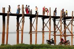 U-Bein Bridge (Alan1954) Tags: burma holiday myanmar wood bridge 2016 asia ubein platinumpeaceaward