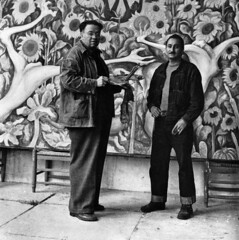 DeGrazia and Diego (DeGrazia Gallery in the Sun) Tags: teddegrazia degrazia ettore ted artist galleryinthesun artgallery gallery nationalhistoricdistrict foundation nonprofit adobe architecture tucson arizona az catalinas desert oldpueblo southwest legacy mentor diegorivera