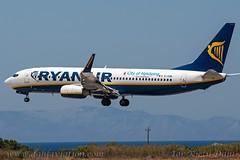 "EI-EBK, Ryanair, Boeing 737-8AS(WL) - cn 37528.""City of Nykoping"" (dahlaviation.com) Tags: airplane aircraft aviation airplanes greece boeing ryanair rhodes spotting 737 aircrafts rho planespotting lgrp diagoras"