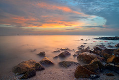 Pantai Redang Sunset | Scene 3 (Shamsul Hidayat Omar) Tags: sunset tourism beach landscape photography high interesting nikon scenery long exposure dynamic shoreline places scene malaysia omar range hdr redang pantai selangor bagan hidayat greatphotographers sekinchan shamsul photoengine oloneo d800e