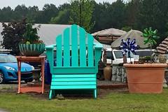 LAWN FURNITURE FOR GIANTS (NC Cigany) Tags: chair funny aqua rainyday bottles furniture nursery lawn amusing xl verylarge