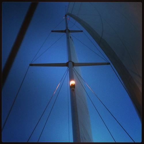 Hallå hallå nord Vänern #sailing Nattsegling...